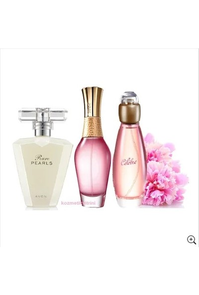 Avon Treselle Bayan Parfüm Edp 50 ml + Avon Rare Pearls + Celebre