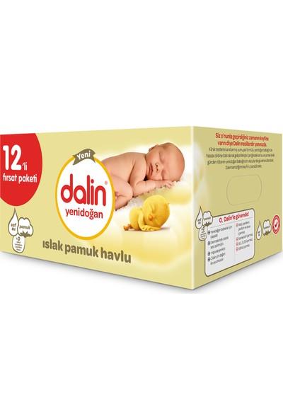 Dalin Yenidoğan Islak Pamuk Havlu 12'li Paket 480 Yaprak