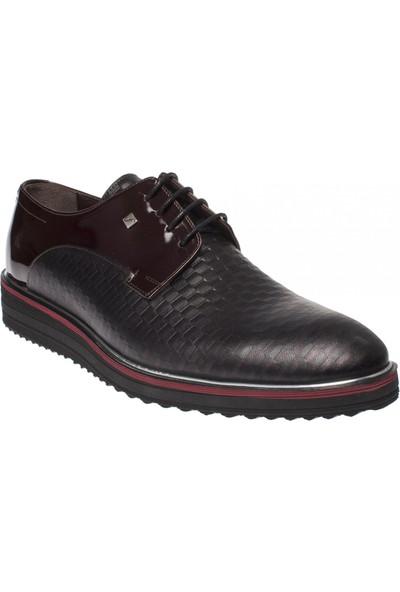 Fosco 9009 Bağlı Klasik Eva Bordo Erkek Ayakkabı