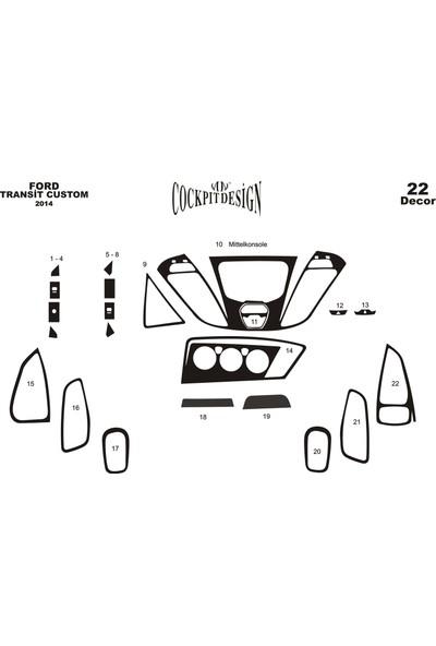Meriç Ford Transit Custom Piano Black Kaplama 22 Parça