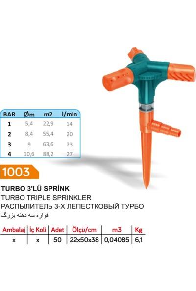 Sayım Turbo 3'lü Kazıklı Sprink Fıskiye