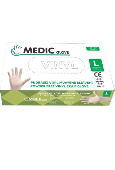 Medic Glove Vi̇ni̇l (Vinyl) Pudrasiz Eldi̇ven (Large)