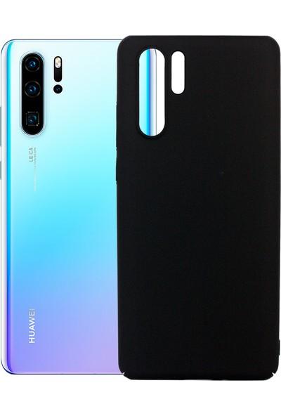 Case 4U Huawei P30 Pro Kılıf Slim Fit Rubber Arka Kapak Siyah