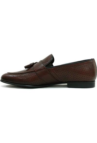 Burç 3070 Kahverengi Bağcıksız Püsküllü Erkek Ayakkabı