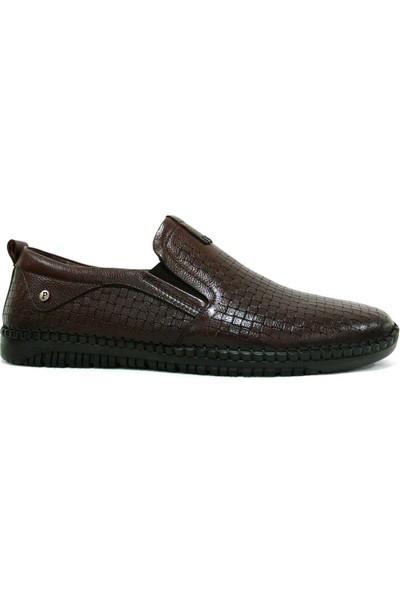 Burç 3183 Kahverengi Bağcıksız Comfort Erkek Ayakkabı