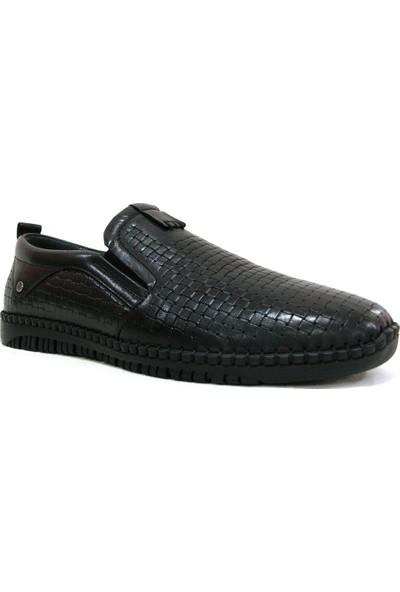 Burç 3183 Siyah Bağcıksız Comfort Erkek Ayakkabı