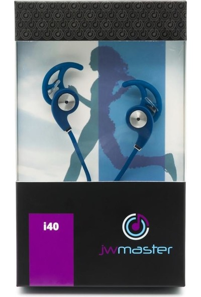 Jwmaster İ40 Mikrofonlu Kulak İçi Kulaklık Mavi