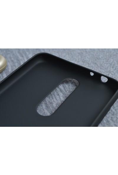 KNY Nokia 5.1 Plus Kılıf Ultra İnce Mat Silikon + Cam Ekran Koruyucu