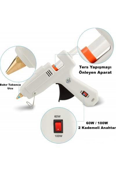 Fuji Sıcak Mum Silikon Tabancası 60-100W 2 Kademeli + 4 Mum
