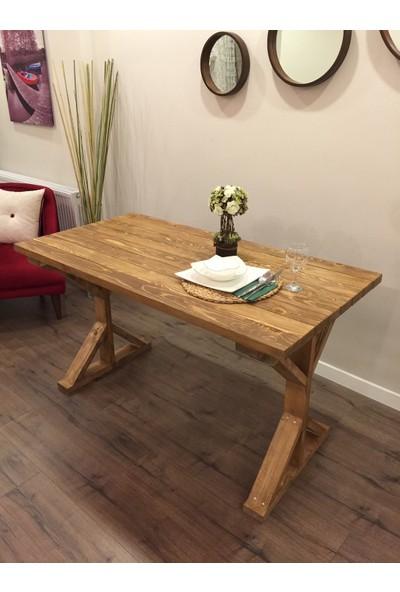 Homedit Doğal Ahşap Yemek Masası Çalışma Masası Ofis Masası Kelebek Ayak
