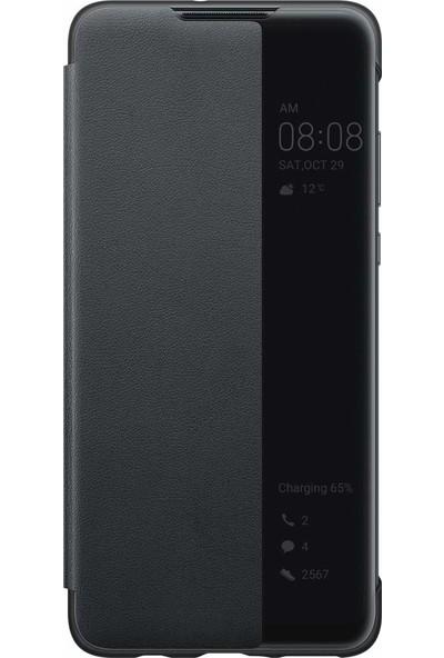Huawei P30 Lite Smart View Flip Cover Kılıf - Siyah