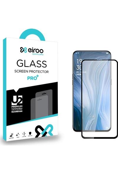 Eiroo Oppo Reno 10X Zoom Curve Tempered Glass Full Siyah Cam Ekran Koruyucu