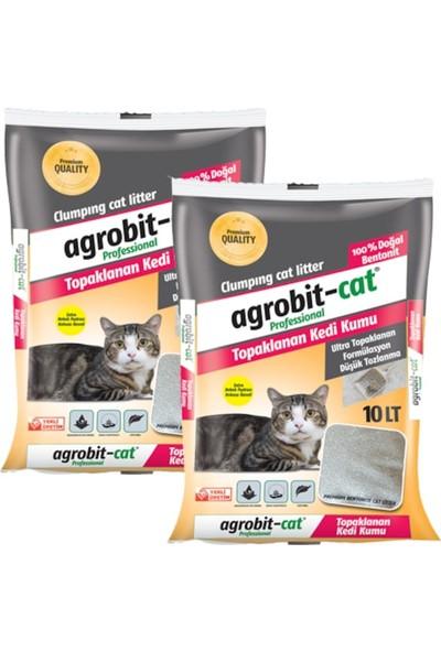 Agrobit Cat Bebek Pudrası Kokulu Doğal Bentonit Kedi Kumu 2 x 10 lt