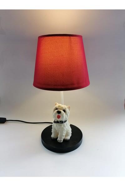 Hediye Fikri Dekoratif Westie Türü Köpek Tasarımlı Abajur