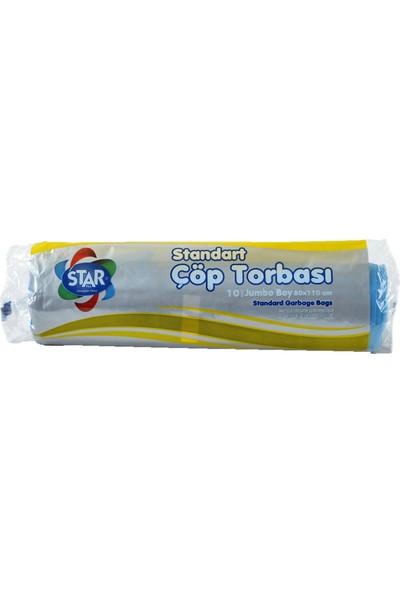 Star Plus Çöp Torbası Jumbo Boy 80X110 Cm. Mavi (1 Koli)=(25 Rulo Paket)