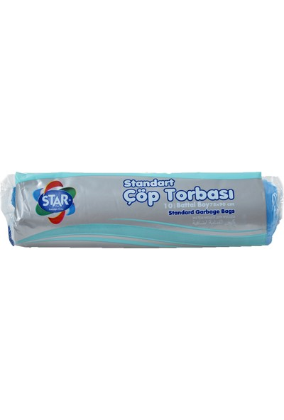 Star Plus Çöp Torbası Battal Boy 75X90 Cm. Mavi (1 Koli)=(50 Rulo Paket)