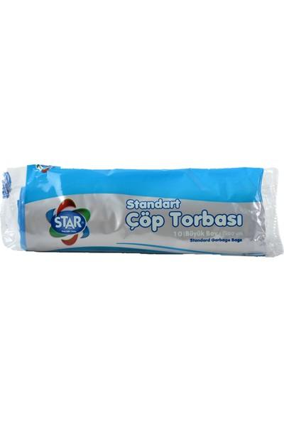 Star Plus Çöp Torbası Büyük Boy 65X80 Cm. Mavi (1 Koli)=(50 Rulo Paket)