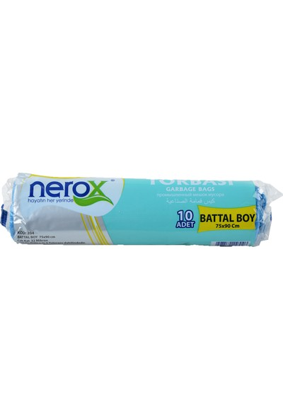 Nerox Çöp Torbası Battal Boy 75X90 Cm. Mavi Renk