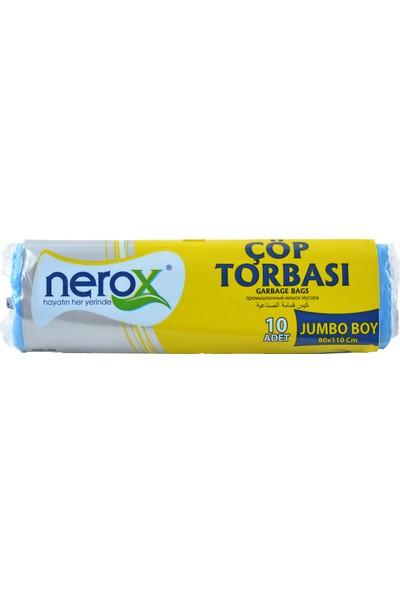 Nerox Çöp Torbası Jumbo Boy 80X110 Cm. Mavi (1 Koli)=(25 Rulo Paket)
