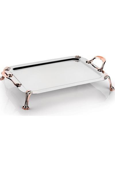 Schafer Tablett Küçük Çelik Tepsi - 1 Parça - Bakır