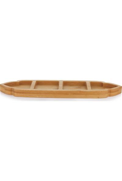 Schafer Lotus Bambu Çerezlik 4 Böl - 33 cm - 1 Parça
