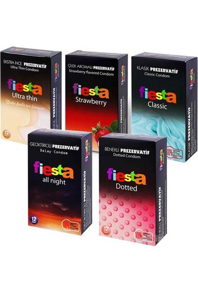 Fiesta 5'li Kutu 60 Adet Prezervatif
