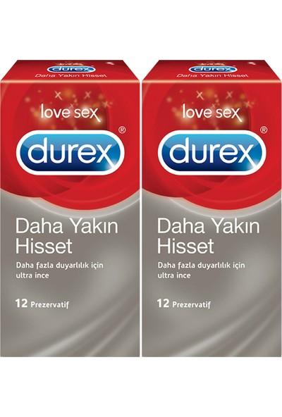 Durex Daha Yakın Hisset 12'Li Prezervatif- 2'Li Fırsat Paketi