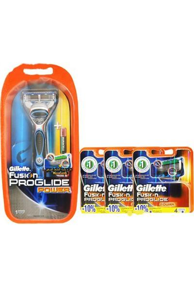 Gillette Fusion Proglide Power Tıraş Makinesi+13 Başlık