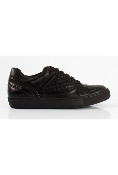 Bruno Shoes 3700Ka Siyah Erkek Kaucuk Taban Ayakkabı