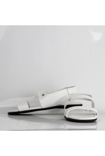 Bruno Shoes 667Ka Erkek Deri Kaucuk Taban Sandalet