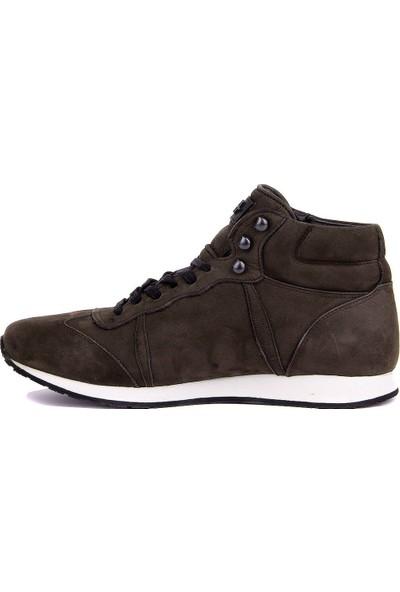 Sail Laker's Gri Nubuk Bağcıklı Erkek Günlük Ayakkabı