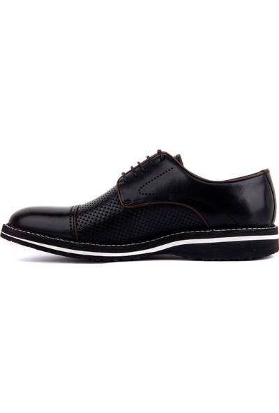 Sail Laker's Fosco Siyah Deri Eva Erkek Günlük Ayakkabı