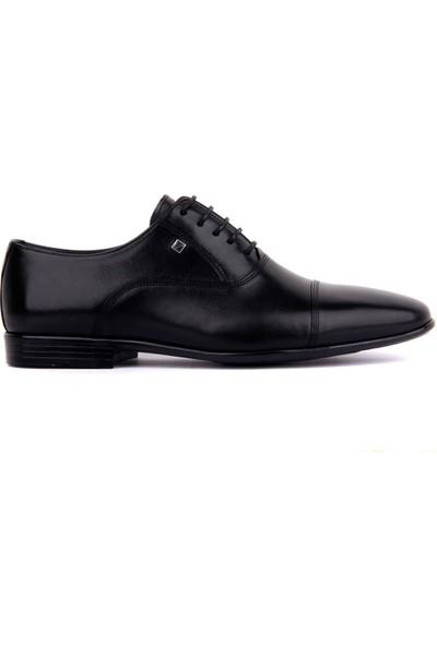 Sail Laker's Fosco Siyah Deri Erkek Klasik Ayakkabı
