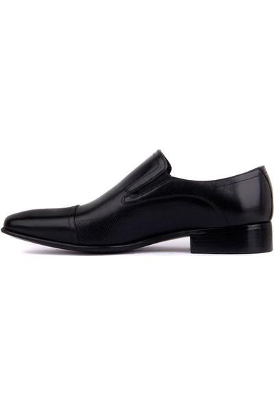 Sail Laker's Fosco Siyah Deri Bağcıksız Erkek Klasik Ayakkabı