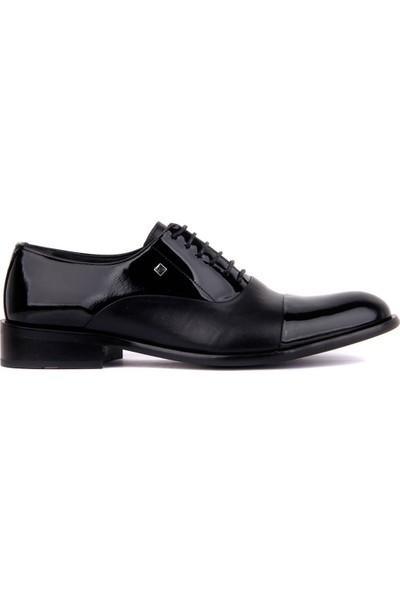 Sail Laker's Fosco Siyah Rugan Deri Erkek Klasik Ayakkabı