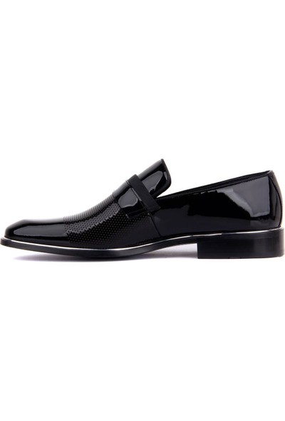 Sail Laker's Fosco Siyah Rugan Neolit Erkek Klasik Ayakkabı