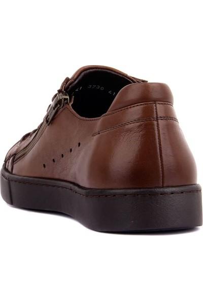 Sail Laker's Kahverengi Deri Erkek Günlük Ayakkabı