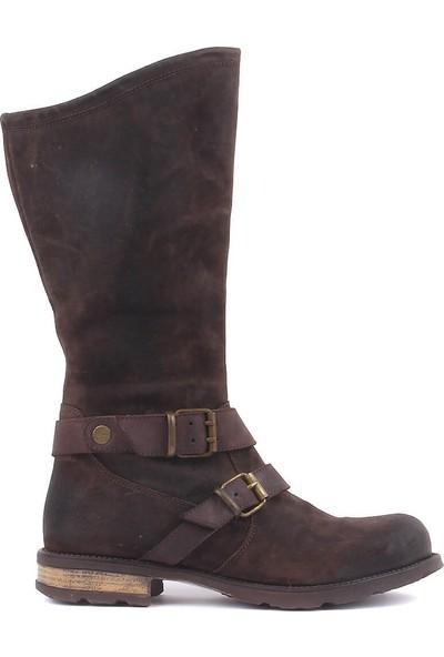 Sail Laker's Kahverengi Nubuk Kadın Çizme