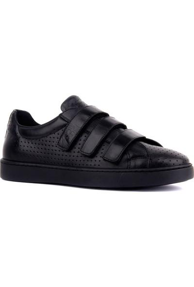 Sail Laker's Siyah Deri Cırtlı Erkek Ayakkabı