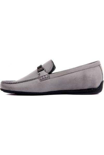 Sail Laker's Gri Deri Erkek Günlük Ayakkabı