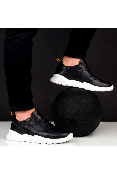 Sail Laker's Siyah Deri Erkek Sneaker