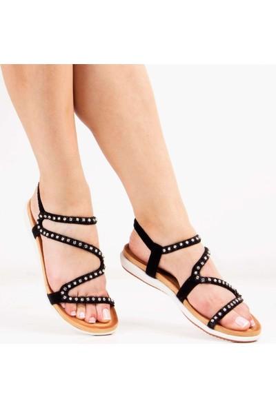 Sail Laker's Guja Siyah Kadın Sandalet