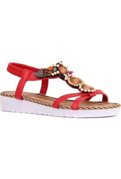 Sail Laker's Guja Kırmızı Kadın Sandalet