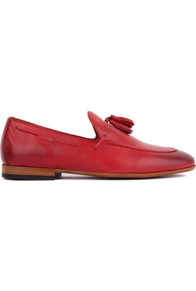 Sail Laker's Bordo Deri Erkek Ayakkabı