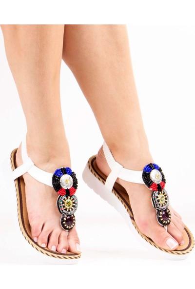 Sail Laker's Guja Beyaz Kadın Sandalet
