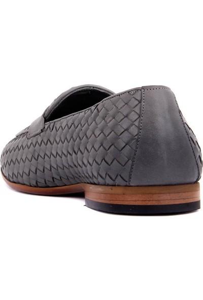 Sail Laker's Gri Deri Erkek Ayakkabı
