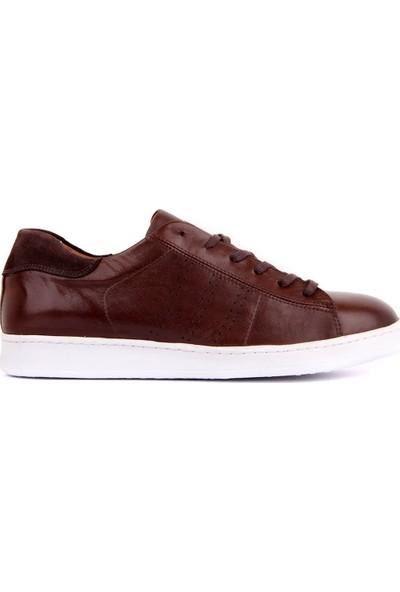 Sail Laker's Kahverengi Deri Erkek Sneaker