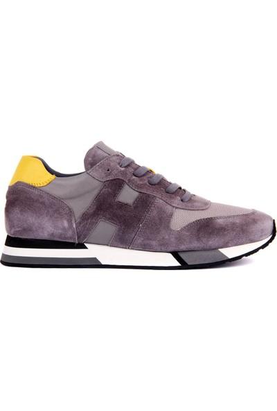 Sail Laker's Gri Süet Erkek Deri Sneaker