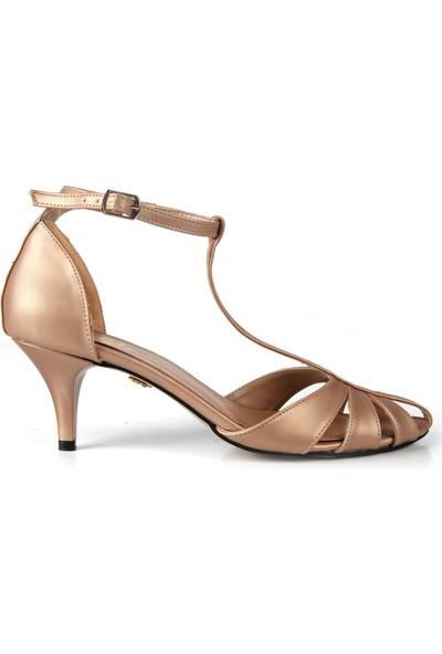 Gökhan Talay Princess Somon Kısa Topuklu Ayakkabı