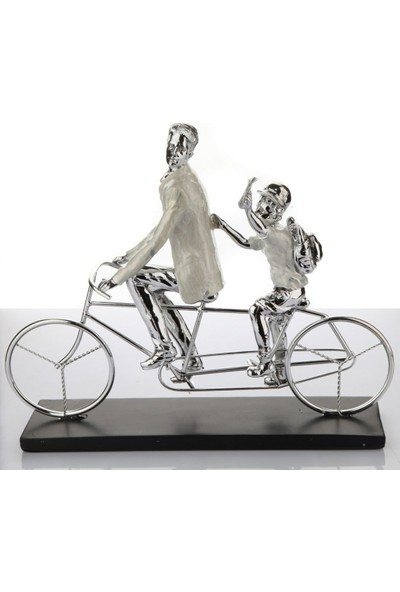 White & Begie Biblo Bisikletli Aile 40 x 3 x 32 cm Nq 302